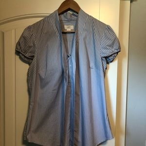 Size large blue and white striped blouse.